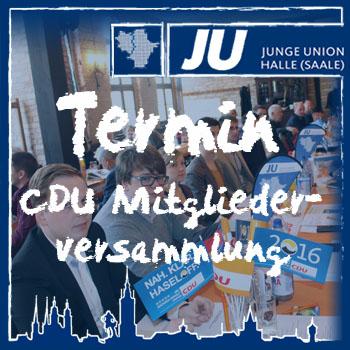 Termin Mitgliederversammlung CDU